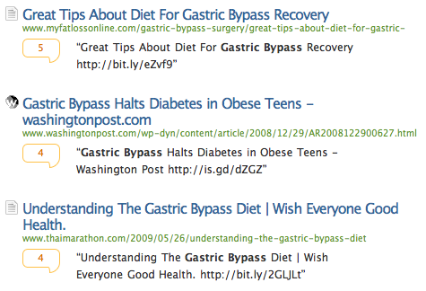 Topsy results for gastric bypass