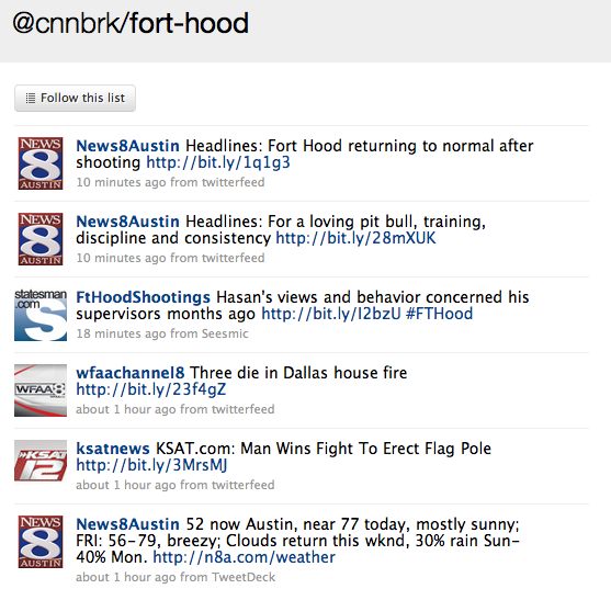 Fort Hood list from @cnnbrk