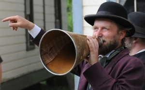Pioneer, Barkerville BC, megaphone by J Scott licensed under CC BY-SA 2.0