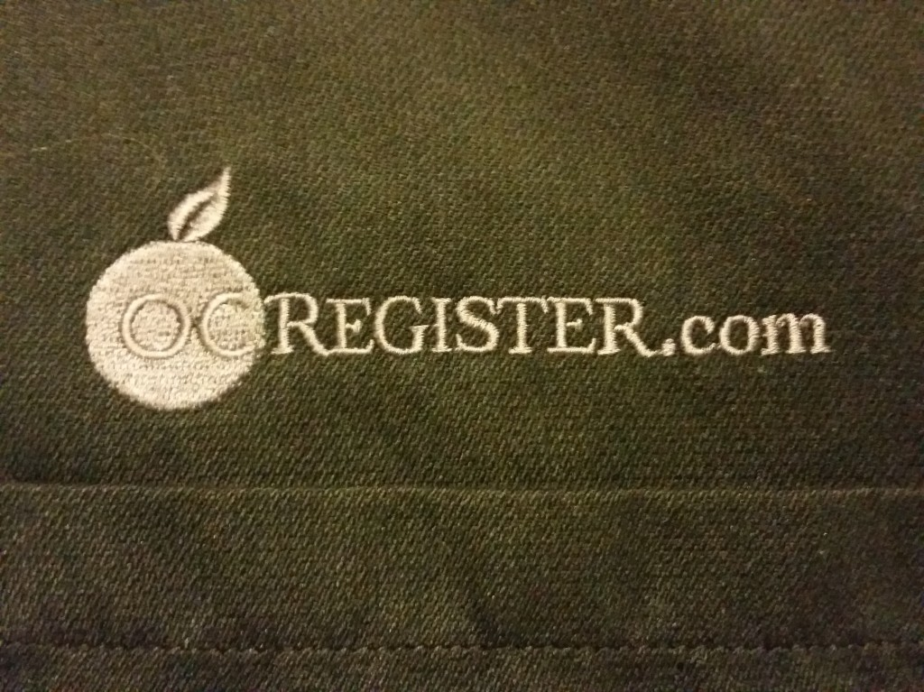 Old shirt with OCRegister.com logo